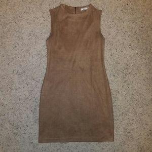 Chloe K Dresses - NWOT Light Brown Suede Dress
